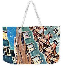 Fort Washington Avenue Building Weekender Tote Bag by Sarah Loft