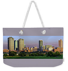 Weekender Tote Bag featuring the photograph Fort Worth Colorful Sunset by Jonathan Davison