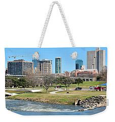 Fort Worth Trinity Park Weekender Tote Bag by Frozen in Time Fine Art Photography