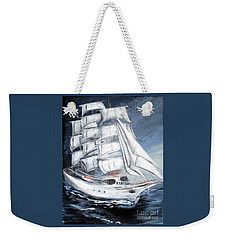 Fortunate. Sailing Ship Weekender Tote Bag