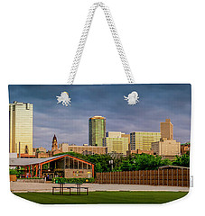 Fortworth Texas Cityscape Weekender Tote Bag