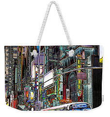 Weekender Tote Bag featuring the photograph Forty Second And Eighth Ave N Y C by Iowan Stone-Flowers