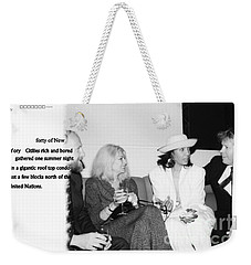 Weekender Tote Bag featuring the photograph Forty by Steven Macanka