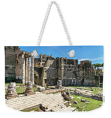 Weekender Tote Bag featuring the photograph Forum Of Augustus by Scott Carruthers