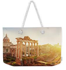 Forum - Roman Ruins In Rome At Sunrise Weekender Tote Bag
