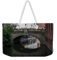 Weekender Tote Bag featuring the photograph Foss Bridge - York by Scott Lyons