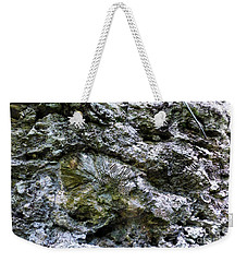 Weekender Tote Bag featuring the photograph Fossil In The Wall by Francesca Mackenney