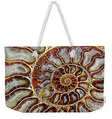 Fossilized Ammonite Spiral Weekender Tote Bag