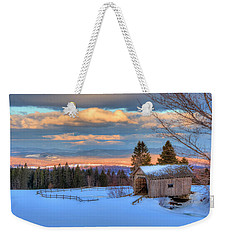 Weekender Tote Bag featuring the photograph Foster Covered Bridge - Cabot, Vermont by Joann Vitali
