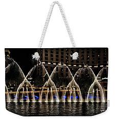 Fountain At Bellagio 4 Weekender Tote Bag by Walt Foegelle
