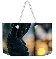 Weekender Tote Bag featuring the photograph Fountain At Sunset Alameda Apodaca Cadiz Spain by Pablo Avanzini