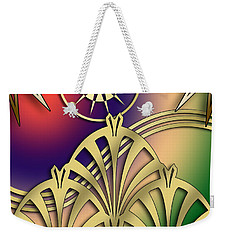 Fountain Design 2 - Chuck Staley Weekender Tote Bag by Chuck Staley