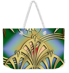 Fountain Design 3 - Chuck Staley Weekender Tote Bag by Chuck Staley
