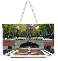 fountain in Buen Retiro  Weekender Tote Bag