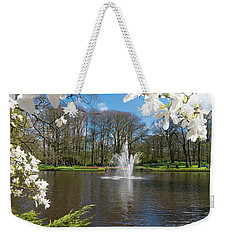 Fountain In Park Weekender Tote Bag
