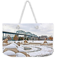 Fountain In Winter Weekender Tote Bag