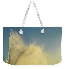 Weekender Tote Bag featuring the photograph Fountain Spray  by Lyle Crump