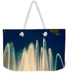 Fountain Stream By Night Weekender Tote Bag by Vlad Baciu
