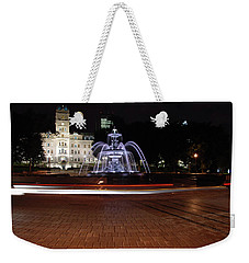Fountaine De Tourny And Quebec Parliament Weekender Tote Bag by John Schneider
