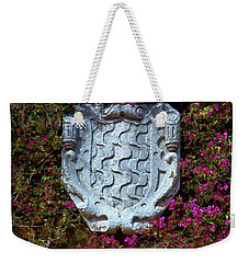 Weekender Tote Bag featuring the photograph Fountains And Flowers At The Roman Walls In Tarragona by Eduardo Jose Accorinti