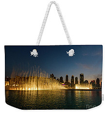 Fountains At Dusk Weekender Tote Bag