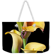Four Calla Lilies Weekender Tote Bag by Garry Gay