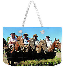 Four Gauchos In Argentina Weekender Tote Bag