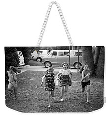 Four Girls Racing, 1972 Weekender Tote Bag