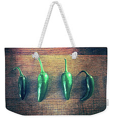 Four Jalapenos Weekender Tote Bag by Michelle Calkins