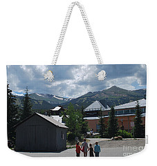 Four Little Children Safe In A Big Beautiful World Telluride Colorado Weekender Tote Bag by Heather Kirk