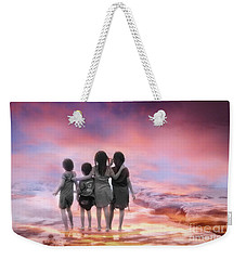 Four Little Friends Weekender Tote Bag by Charuhas Images
