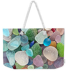 Four Marbles And A Rainbow Of Beach Glass Weekender Tote Bag