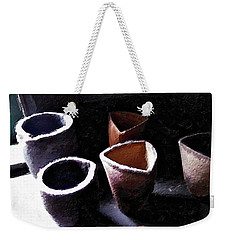 Weekender Tote Bag featuring the painting Four Of Cups by Joan Reese