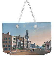 Fourth Street. West From Vine Weekender Tote Bag by John Caspar Wild