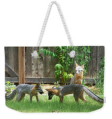 Fox Family Weekender Tote Bag