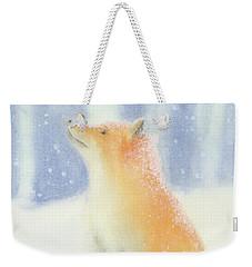 Fox In The Snow Weekender Tote Bag by Taylan Apukovska