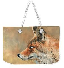 Fox Portrait Weekender Tote Bag by David Stribbling