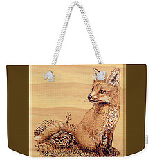 Fox Pup Weekender Tote Bag by Ron Haist