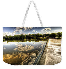Fox River At The Geneva Dam Weekender Tote Bag
