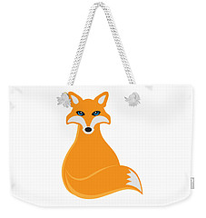 Fox Sitting Illustration Weekender Tote Bag by Jit Lim
