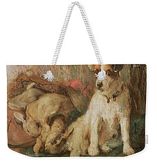 Fox Terrier With The Day's Bag Weekender Tote Bag by English School