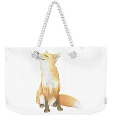 Fox Watercolor Weekender Tote Bag by Taylan Apukovska