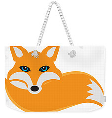 Fox With Tail Illustration Weekender Tote Bag by Jit Lim