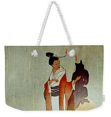 Weekender Tote Bag featuring the photograph Fox Woman 1912 by Padre Art