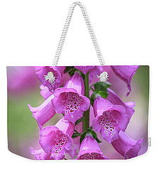Weekender Tote Bag featuring the photograph Foxglove Flowers by Edward Fielding