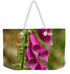 Foxglove Weekender Tote Bag by Sean Griffin