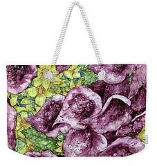 Foxgloves Weekender Tote Bag by Kim Tran