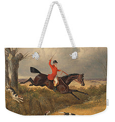 Foxhunting Clearing A Ditch Weekender Tote Bag