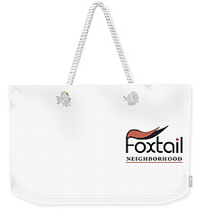 Weekender Tote Bag featuring the digital art Foxtail Logo by Arthur Fix