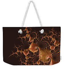 Weekender Tote Bag featuring the digital art Fractal Alchemy by Susan Maxwell Schmidt